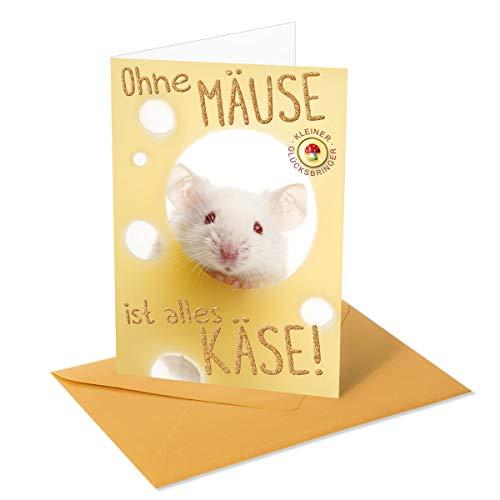 Glückwunschkarte für Geldgeschenk - mit Glücksbringer, inkl. Umschlag