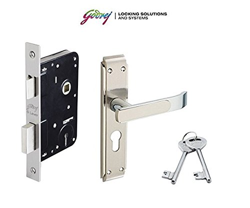 GODREJ Mortise Zinc Alloy 6-Lever Door Handle with Gloria Lock Body