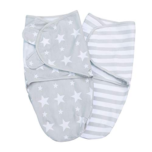 Lilly and Ben® Baby Swaddle Wrap Manta Envolvente - S o L - Saco-s De Dormir Bebe-s Recien Nacido-s Mantas Arrullo - Set 2