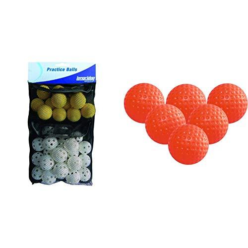LONGRIDGE Golf Trainingsbälle, 32er Pack & Trainings-Golfbälle Gelee, 6 Stück, orange