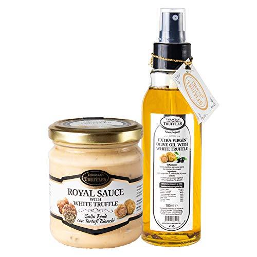 Aceite de oliva virgin extra de trufa blanca Tuber Magnatum Pico 100ml Spray y Trufa blanca Tuber borchii y Tuber MAGNATUM PICO 👑 Royal 👑 Salsa de comida gourmet Pasta con crema y queso 180g