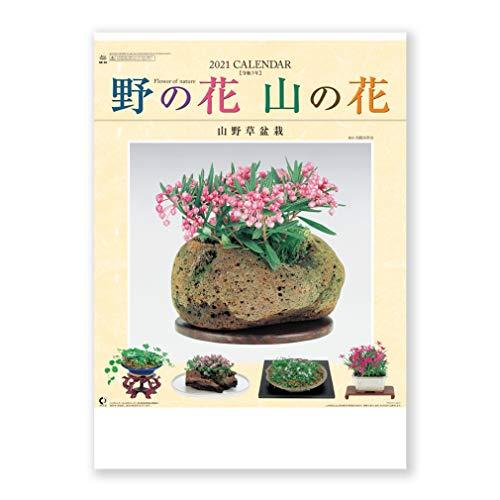 新日本カレンダー 2021年 カレンダー 壁掛け 野の花・山の花 山野草盆栽集 NK46