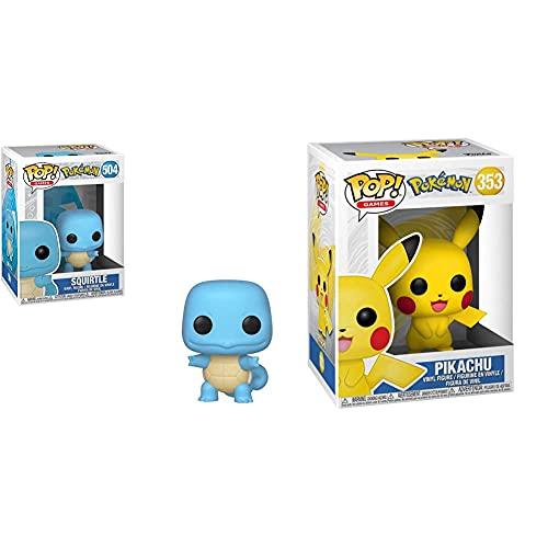 Funko Pop! 39442 Pokémon Squirtle #504 Licensed Oficial + 31528 Pop Games Pokemon S1- Pikachu