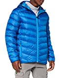 Spyder Men's Timeless Hoodie Down Jacket – Paneled Puffy Lightweight Hooded Full Zip, Large, Old Glory