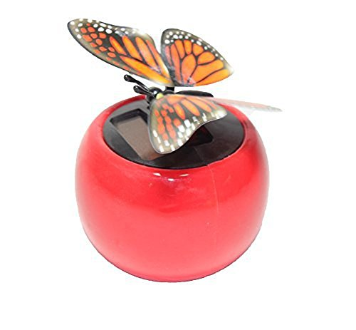 We pay your sales tax A Flip Flap Wings Dancing Butterfly Flying in a Assorted Colors Pot - Bobble Plant Solar Toy