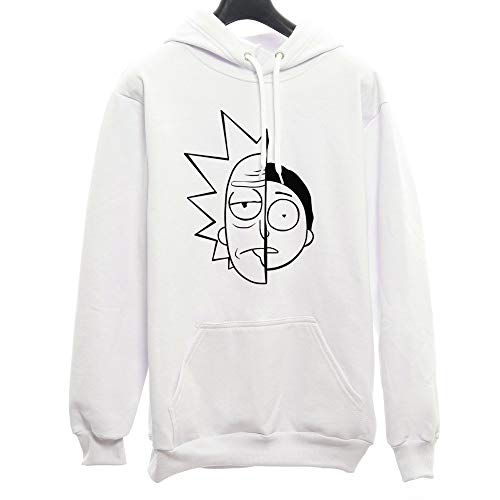 Moletom Canguru Unissex Rick And Morty Caras Series (Branco, M)