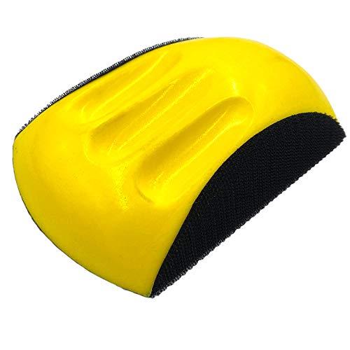 Schleifklotz mit Klett-Haftung   Handschleifer mit Griffmulden   für 150mm Schleifscheiben