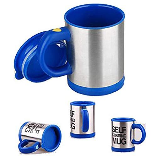 Zeerkeer Self Stirring Mug, Tazas de Café Portable Acero Inoxidable,Taza de Auto-agitación para el Café/Leche/Té, Office Home Travel Gift (Azul oscuro)