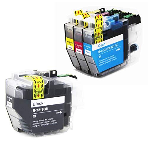 4 LEMERO Kompatibel Brother LC-3219 LC3219 XL Druckerpatronen für Brother MFC-J6930DW MFC-J6530DW MFC-J6935DW MFC-J5730DW MFC-J5330DW MFC-J5930DW MFC-J5335DW Drucker,Schwarz Cyan Magenta Gelb