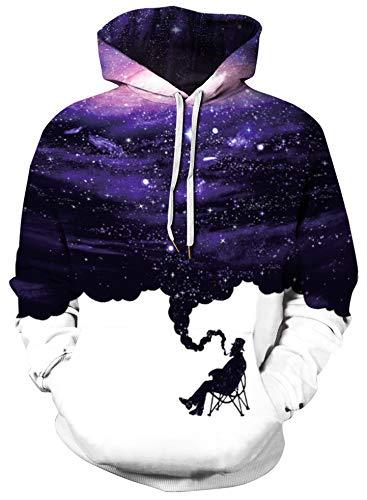 BBAYMAX Unisex 3D Hoodie Design Pattern Drawstring Sweatshirt with Pockets...