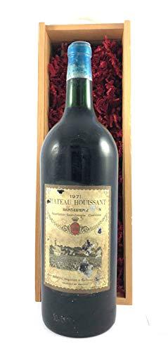 Chateau Houissant 1971 Saint Estephe MAGNUM in einer Geschenkbox, da zu 4 Weinaccessoires, 1 x 1500ml