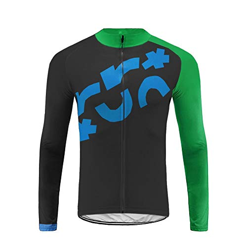 BurningBikewear Uglyfrog Maillot Ciclismo Hombre, Maillot Bicicleta Hombre, Camiseta Ciclismo con Mangas Largas Edición de Equipo CXMX06F