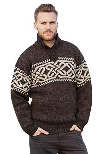 McLaughlin's Irish Shop Celtic Pull en laine pour homme - - Large