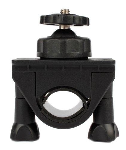 DURAGADGET Support/Fixation Rotatif Ajustable sur Guidon de vélo pour caméra embarquée QUMOX SJCAM Multifonction SJ4000 HD, F21 Silver Action Sport Cam