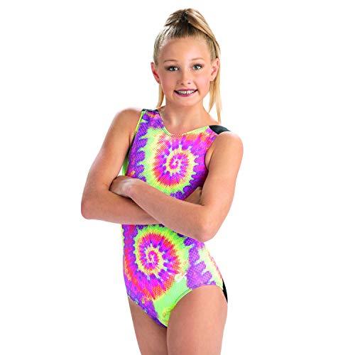 GK Girls Gymnastics Leotard V-Neck Show Tank (Tie-Dye, CS)