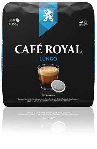 Café Royal Lungo 36 kompatible Kaffeepads für Senseo®*, Intesität 4/10, 1er Pack (1 x 36 Kaffee-Pads)