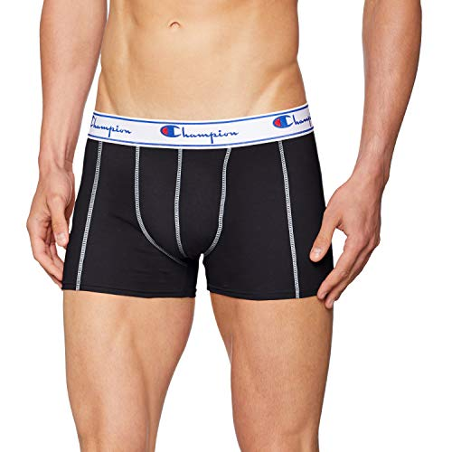 Champion Herren Boxershorts Coton (3er Pack), Schwarz (Noir 8Mj), XX-Large
