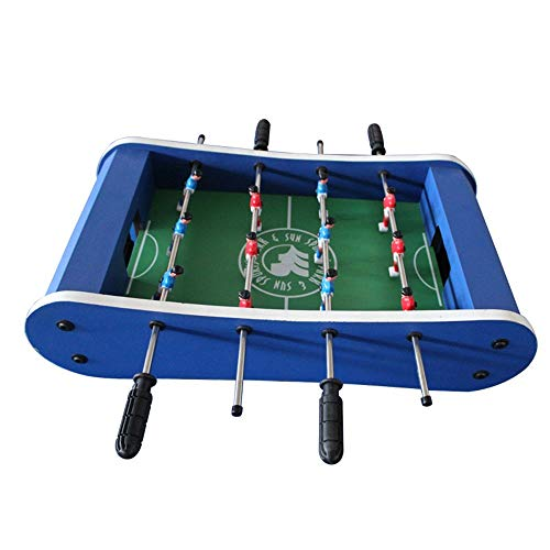 Wujiancheng-apparel Futbolín Hockey de futbolín y Mesa de Juego Tabla W/Pool Billar para los Adultos, niños - Fútbol Mano recreativa p (Color : Blue, Size : 59x31x15cm)