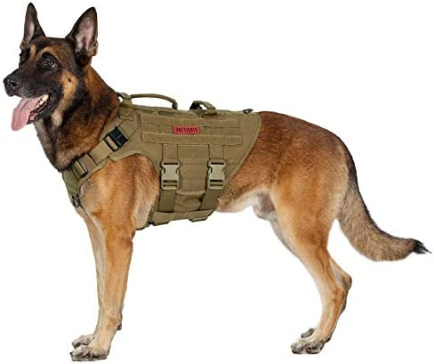 OneTigris Large Tactical Dog Harness No Pulling Adjustable Dog Vest Harness Heavy Duty Dog Harness product image
