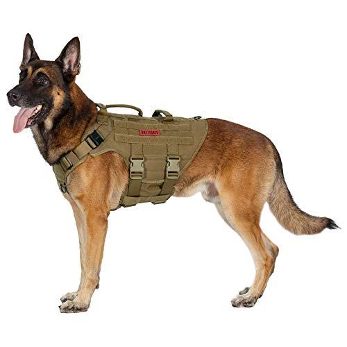 OneTigris K9 Hundegeschirr X DESTROYER taktisches Hundegeschirr 3 Griffe Heavy Duty Hundeweste mit Metallschnallen
