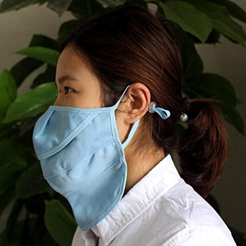 Maschere protettive per la Protezione della Polvere e dai Raggi UV per Il Collo Estivo Maschere per Signora Non tessute per Equitazione in Tessuto-Blu