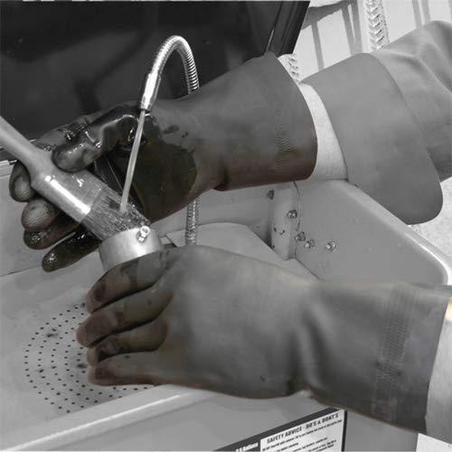 Polyco Maxima Handschuhe aus Naturkautschuk, strapazierfähig, mit Flockfütterung, Größe L, 1 Paar