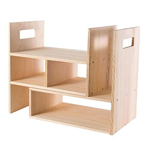 JCNFA Planken Desktop Mobiele Opslag Kast Op De Bureau Kleine Boekenplank Bureau Effen Hout Multifunctionele Gratis Combinatie
