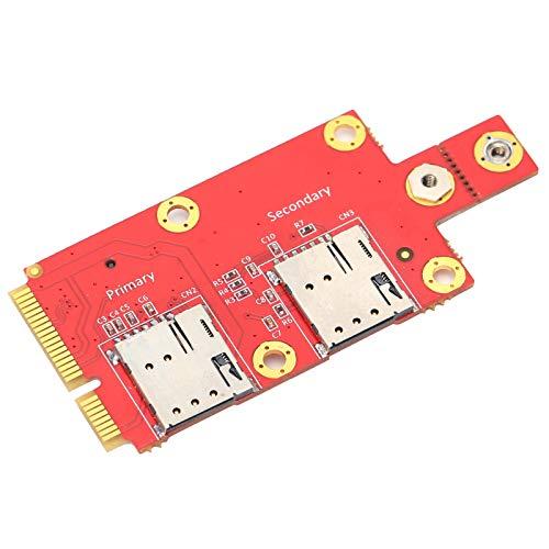 Adaptador M.2 a Mini PCI-E, Accesorios para computadora portátil con Tarjeta SIM, Adecuado para módulo inalámbrico M.2 Clave B B USB 2.0 de 5G / 4G / 3G