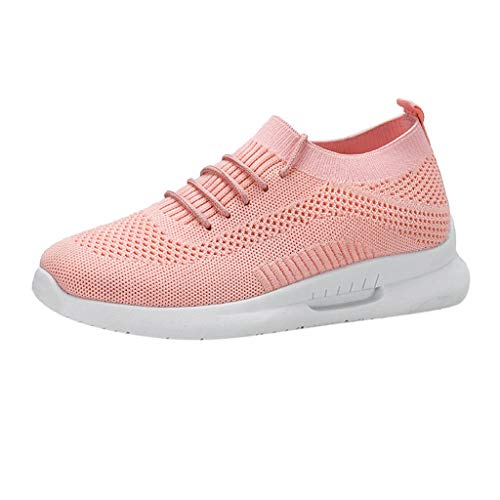 Women Running Shoes Lightweight,Fashion Women's Mesh Breathable Sneakers Casual Shoes Student Running Shoes,Women's Tennis & Racquet Sport Shoes,Pink,US:5.5