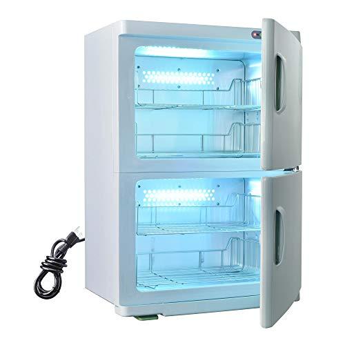 AW 46L 2in1 Electric Dual Cabinet Hot Towel Warmer Heat Machine Facial Skin Spa Massage Nail Beauty Salon Barbershop Equipment