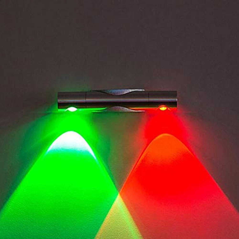 ATR Lampe MEI Nachtlicht Moderne LED Wandleuchte Licht Winkeleinstellbar Dekorative Spot Lights Für Home Studio Hall Porch Korridor Nacht Schlafzimmer Energieeinsparung (Farbe  Farbe Licht, Gre  6W