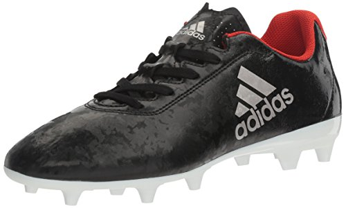 adidas Women's X 17.4 FG W Soccer Shoe, Black/Platino Core Red S, 8.5 M US
