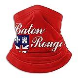 Flag of Baton Rouge Man Women's Breathable Mouth Mask Dustproof Neckerchief Black