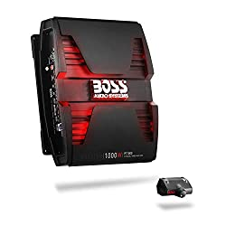BOSS Audio Systems PT1000 2 Channel Car Amplifier - 1000 Watts, Full Range, Class A/B, 2-8 Ohm Stable, Mosfet Power Supply, Bridgeable