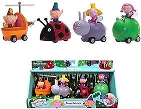 CLMM 4pcs/Set New Litle Kindom Ben Holy Action Figure 2-9cm PVC Figurines Ben and Holly Litle Kindom Mini Figures Toys Kids Gift