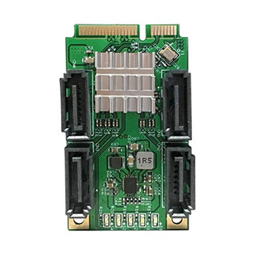 Kongnijiwa 4 Port SATA III Mini-PCI-E Marvel 88SE9215 88SE9215 Controller Controller-Karte SATA 3.0 Mini-PCI-Express SSD-Adapter-Karte