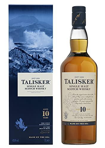 Talisker Talisker 10 Jahre Single Malt Scotch Whisky – In traditioneller Geschenkbox – 1 x 1L Single Malt Whisky (1 x 1 l)