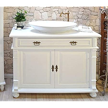 Large Washbasin Cabinet Solid Wood Country House Nostalgia Bathroom Furniture Rustic Shabby Chic Amazon De Home Kitchen