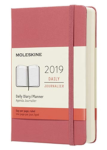 """Moleskine Classic Hard Cover 2019 12 Month Weekly Planner, Large (5"""" x 8.25"""") Sapphire Blue - Weekly Planner for Students & Professionals, for Organizing and Planning"""
