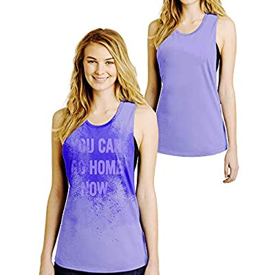 LeRage You Can Go Home Now Hidden Message Gym Gift Tank Top Funny Workout Shirt Available Plus Size Medium Purple