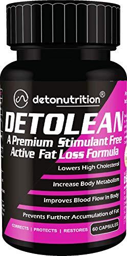 DetoNutrition Deto Lean Capsules (Premium Stimulant Free Active Fat Loss Formula, 100% Natural) (60- Capsules)