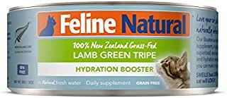 Canned Cat Food Supplement Booster by Feline Natural - Perfect Grain Free, Healthy, Hypoallergenic Limited Ingredients - Wet Cat Supplement - 100% Green Tripe Nutrition for Cats - 3 oz (24 Pack)