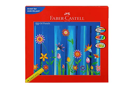 Faber Castell Color Oil Pastels (Pack of 50 Shades)