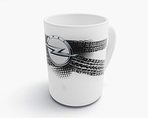 Natshop2000 Opel Auto Tasse Kaffeebecher Kaffee Tasse -T073