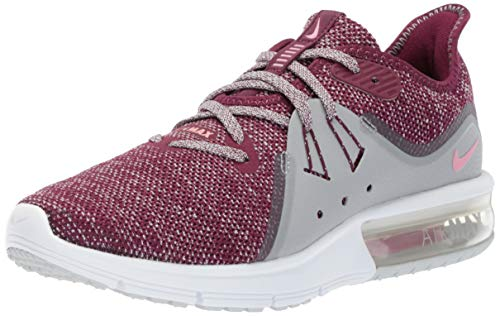 Nike Women's Air Max Sequent 3 Bordeaux/Elemental Pink Ankle-High Running - 5.5M