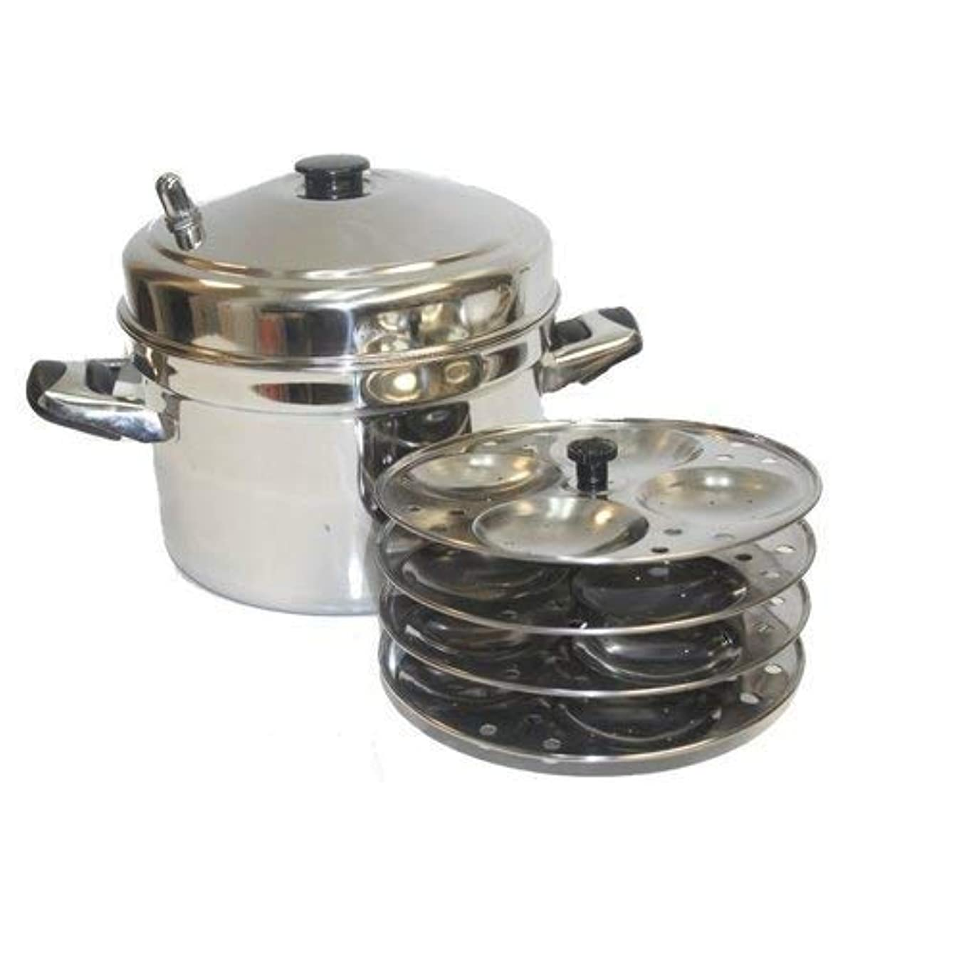 TABAKH IC-205 5-Rack Stainless Steel Idli Cooker with Strong Handles
