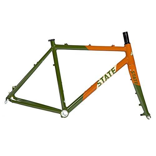 State Bicycle Co. Thunderbird Cyclocross Single Speed Bike Frame/Fork Set, Army/Burnt Orange, 46cm