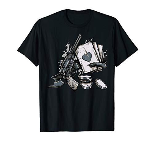 Ace Herz Chip Gun Kostüm Lustiges Halloween Geschenk T-Shirt