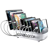 ORICO 120W Charging Station for Multiple Devices - 10 USB Smart Ports - Auto Temperature Control System - Charger Organizer Docking Station for Cell Phones, Tablets and Others (Cables not Included)