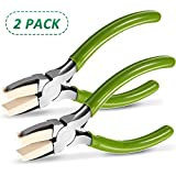 2 Packs Nylon Nose Pliers Double Nylon Jaw Pliers Carbon Steel Jewelry Pliers DIY Tools for Beading, Looping, Shaping Wire, Jewelry Making and Other Crafts, 5.3 Inch